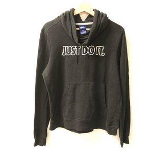 Nike medium Just Do It logo pullover black hoodie